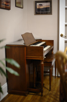 photo of Hammond M-3 organ in our dining room