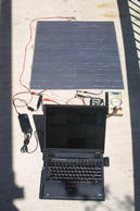 Photo of solar powered laptop