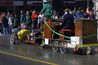Hammond organ being played on a bike trailer